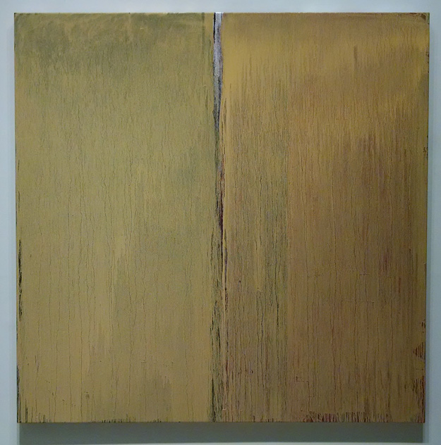 Two Naples Yellow, oil on linen, 62 x 62 inches, 2014