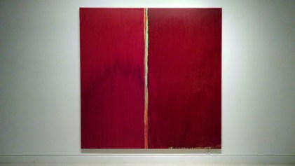 Red and Red, oil on linen, 96 x 96 inches, 2014