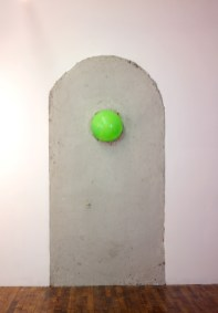 Adam Lovitz and Patrick Maguire,  Crack Pop concrete and rubber ball, 4 x 8 feet