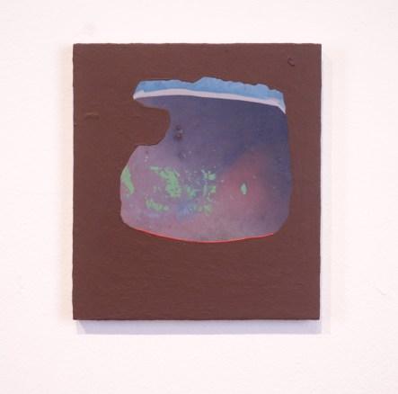 Adam Lovitz, Mud Wisdom, acrylic on panel, 8 x 9 inches