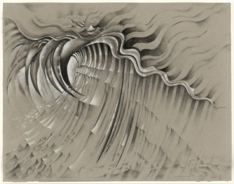 Lee Bontecou, Untitled, 1985. Charcoal, graphite, and colored pencil on colored paper. The Museum of Modern Art, New York. The Judith Rothschild Foundation Contemporary Drawings Collection Gift, 2005. © 2013 Lee Bontecou / digital image © 2013 The Museum of Modern Art, New York/Licensed by SCALA/Art Resource, NY.