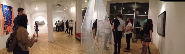 Panoramic view of New Sight, Tory Savery's gallery at 319 N 11th St.