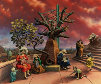 Peter Blume, Tasso's Oak, 1957-60 Collection of Mr. and Mrs. Armand G. Erpf Art © The Educational Alliance, Inc./Estate of Peter Blume/Licensed by VAGA, New York