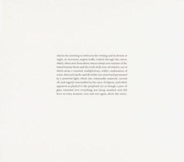 Franz Kafka, Amerika (37), 1911-1914, 2014 SBH - 232 (VN31) Pencil on paper 9 3/8 x 10 1/2 inches Translation by Sharka Hyland © SH Signed on back