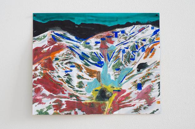 Jocko Weyland, Alpine (Green Sky), 2013. Courtesy Kerry Schuss and Fleisher/Ollman Gallery.