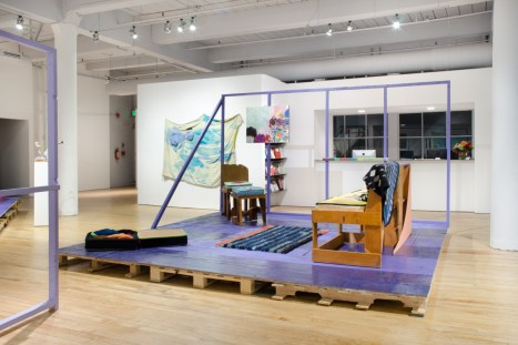 Chris Johanson and Johanna Jackson, installation view, House of Escaping Forms, Fleisher/Ollman Gallery, 2015. Image: Claire Iltis.