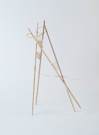 Christine Stoughton, Stick Drawing #1, mixed media, 2014.