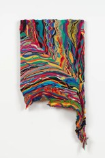Jayson Musson Rosetta, 2016 Mercerized cotton stretched over cotton 41 x 20 1/2 inches JSM 47 Credit: Courtesy the artist and Fleisher/Ollman. Photo: Claire Iltis