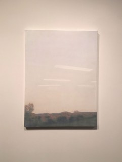 Sarah Pater, Window view (sunset), oil on canvas, 30 x 44 in.