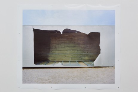 "Izaak Schlossman, ""Overturned Truck Trailer, I-8 Near Yuma, AZ"""