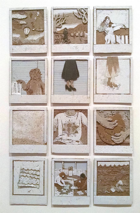 Amy Lee Ketchum, Polaroids (set of twelve), cardboard, 22x30