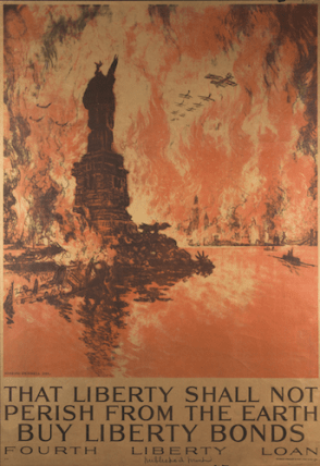Joseph Pennell (1857-1926) That Liberty Shall Not Perish from the Earth—Buy Liberty Bonds—Fourth Liberty Loan, 1918 Lithograph, 40 1/2 × 29 1/2 in. The Museum of Fine Arts, Boston, Gift of John T. Spaulding, RES.37.17.33 Photo: Courtesy of the Library of Congress