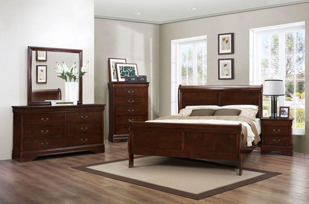 Titus Furniture Ltd  Louis Phillipe Bedroom Set Dark