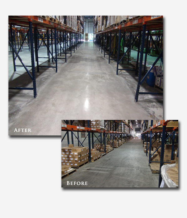 Concrete Floor Cleaning Company  Remove Dirt  Tire Marks
