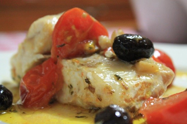 Merluzzo con olive e capperi