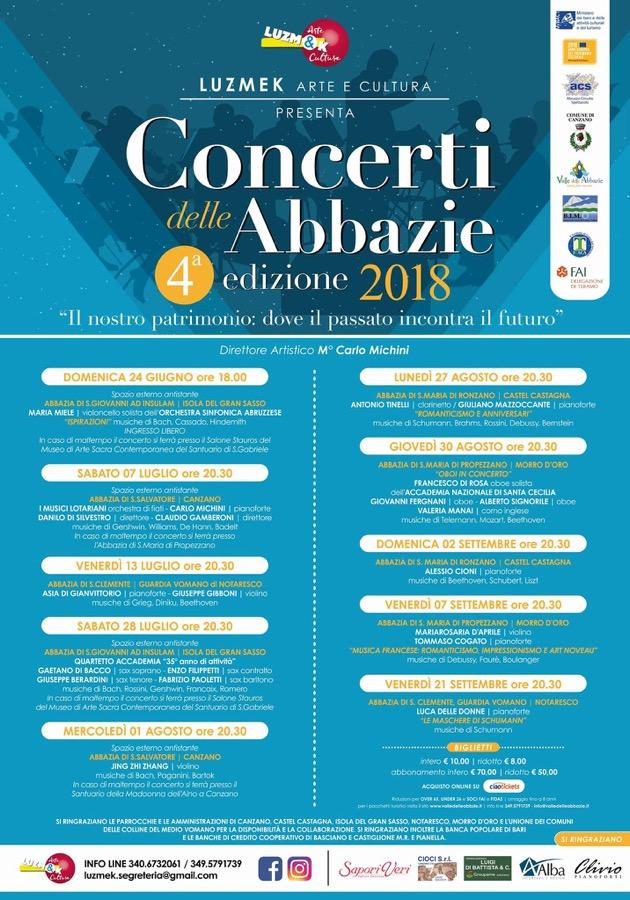 Concerti Abbazie locandina