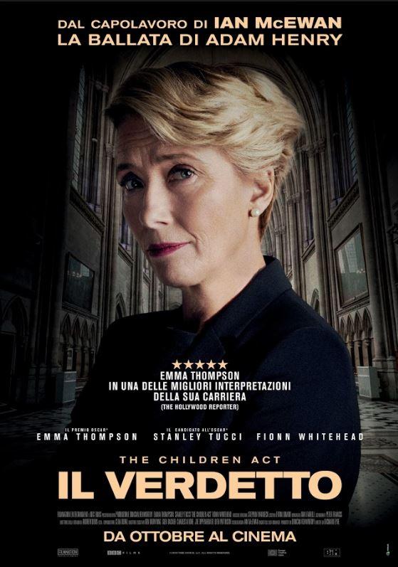 Il Verdetto: Poster del film con con Emma Thompson e Stanley Tucci