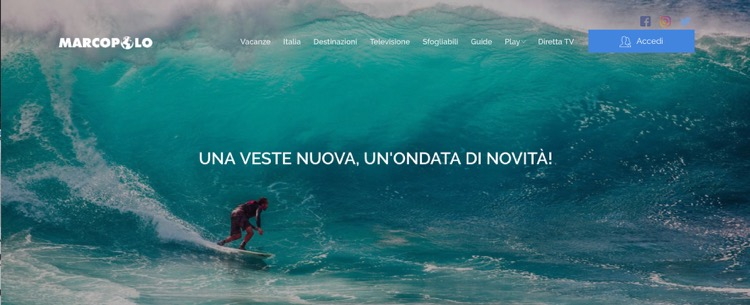 Marcopolo, il canale di viaggi è online con il nuovo sito web