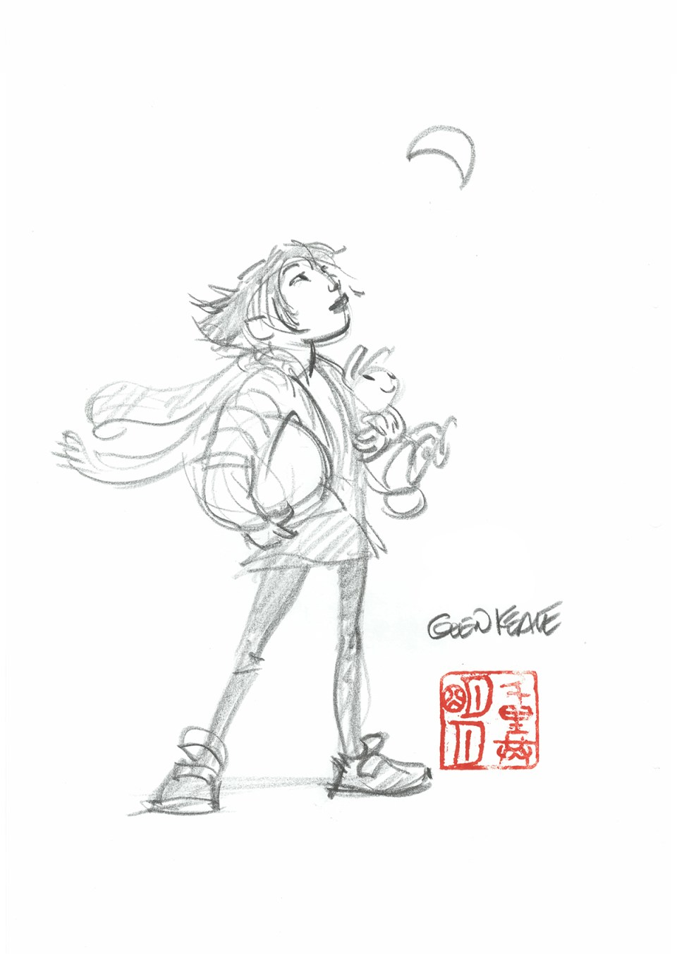 Glen_Keane Even Though We Are Separated By Thousands of Miles, We Share The Same Moon