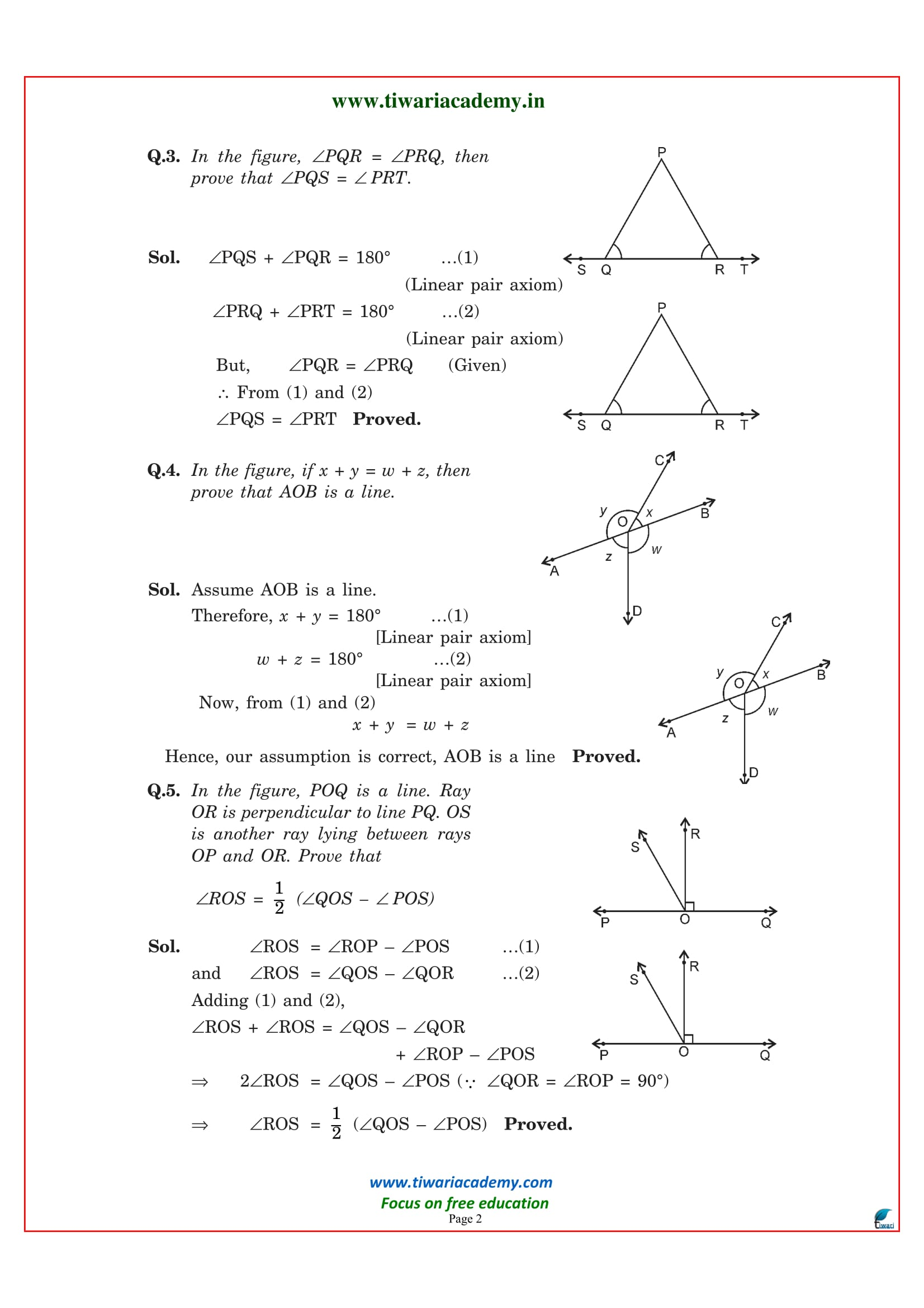 Free Ncert Solutions For Class 9 Maths Chapter 6 In