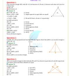 NCERT Solutions for Class 9 Maths Chapter 7 Triangles Exercise 7.1 - 7.5 [ 2339 x 1654 Pixel ]