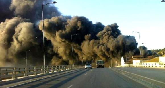 Incendie au Souk Moncef Bey