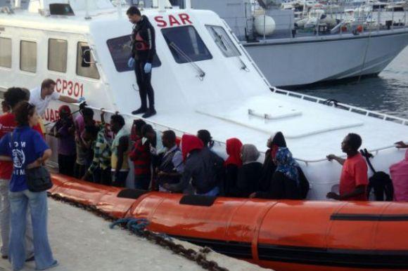 Tunisiens a Lampedusa - naufrage