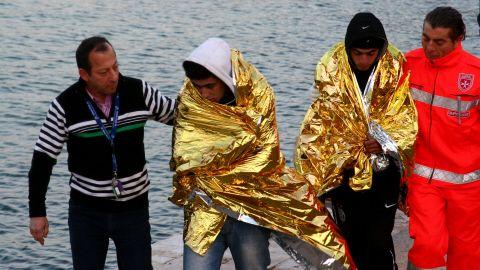 Tunisiens a Lampedusa - naufrage - clandestin