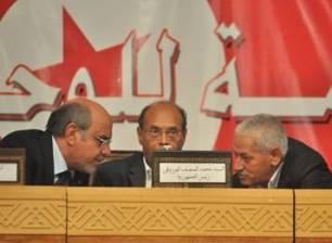 UGTT - Hamadi Jebali - Moncef Marzouki - Houcine Abessi