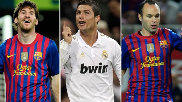 Lionel Messi - Cristiano Ronaldo - Andrés Iniesta