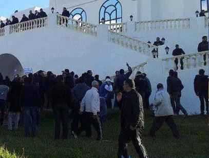 Manifestation contre le meeting de Nidaa Tounes