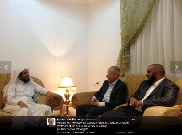 Van Doorn rencontre Dr. Abdullah Alzahrani scholar of hadith