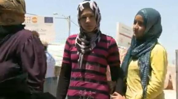 Camp de réfugiés syrien à la Jordanie où de jeunes filles sont des proies quotidiennes aux trafic de sexe