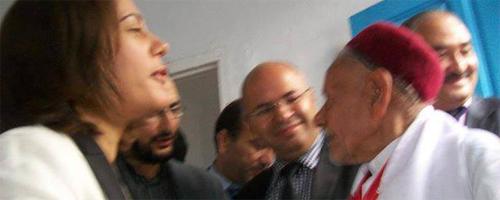 Sihem Badi assiste au mariage d'un couple septuagénaire à Bizerte