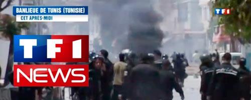 Reportage de TF1 sur les violences en Tunisie