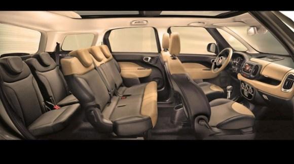 L'intérieur de la Fiat 500L Living