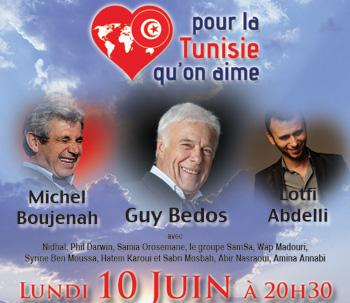 « Pour la Tunisie qu'on aime » ce soir à l'Olympia