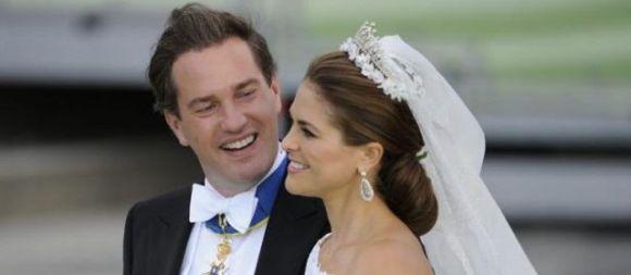 Célébration du mariage de la princesse Madeleine de Suède avec le financier Chris O'Neill