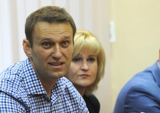 L'opposant russe Alexeï Navalny, le 18 juillet 2013 au tribunal de Kirov - Photo de Vasily Maximov - AFP © 2013 AFP