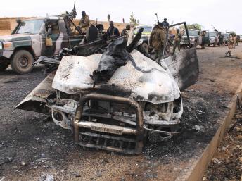 A Mujao pick-up détruits par l'armée française au Mali Adama Diarra / Reuters