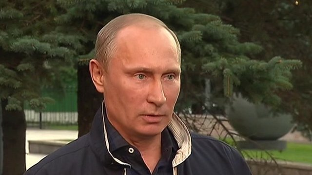 Vladimir Poutine remet en doutes les infirmations des États-Unis sur l'implication du gouvernement de la Syrie