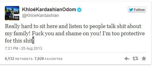 Le twwet de Khloe Kardashian à propos de la disparition de son mari et le comportement de la média.