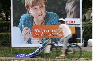 Angela Merkel est candidat à l'élection à nouveau en Septembre