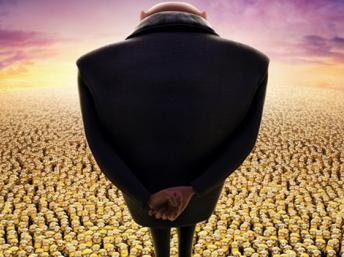 """""""Despicable Me 2"""" avec Gru et 10.400 Minions."""