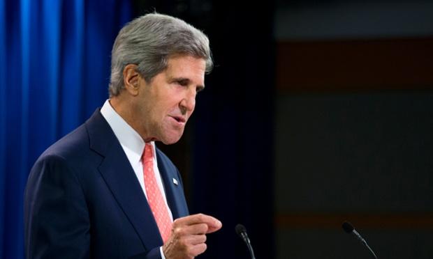 Secrétaire d'Etat John Kerry parle de la Syrie au Département d'Etat à Washington.