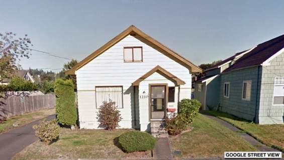 La maison d'enfance à Aberdeen, Washington.