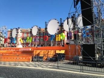 Scène principale Jeux de la Francophonie à Nice, France.