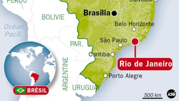 Carte de Rio de Janeiro au Brésil. / Crédits : Idé