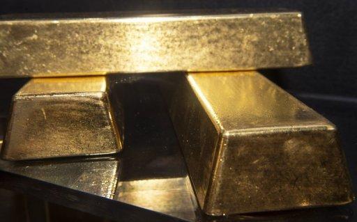 rois des lingots d'or d'une valeur totale de plus de 2 millions de dollars sur l'affichage au Bureau of Engraving and Printing à Washington, le 27 Août 2012.