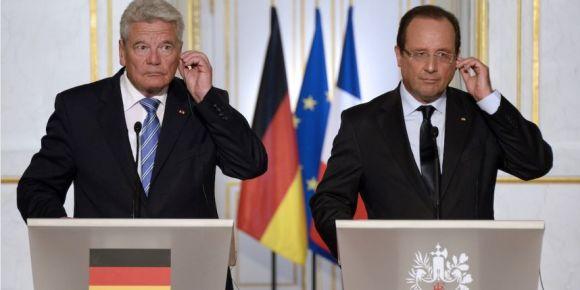 Joachim Gauck et Francois Hollande lors de la conférence de presse